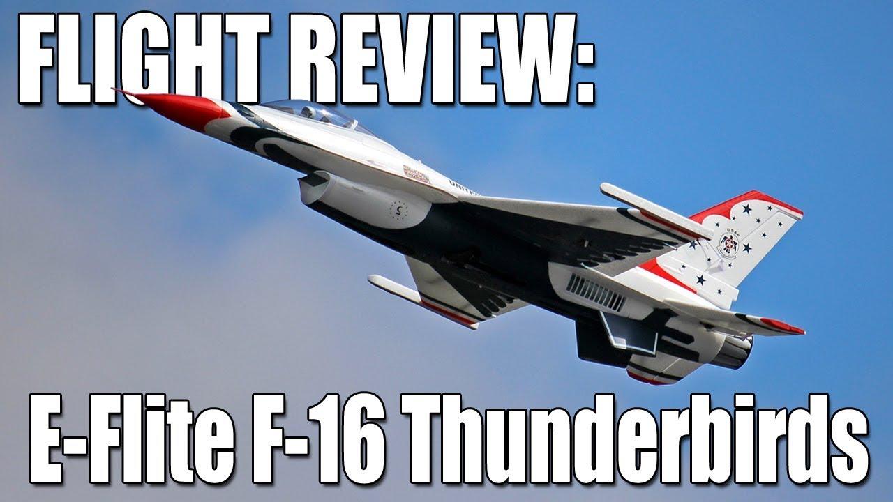 E-Flite F-16 Thunderbirds 70mm EDF Assembly & Flight Review - The RC