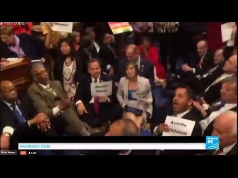 US gun control protest: congressional Democrats stage sit-in on house floor