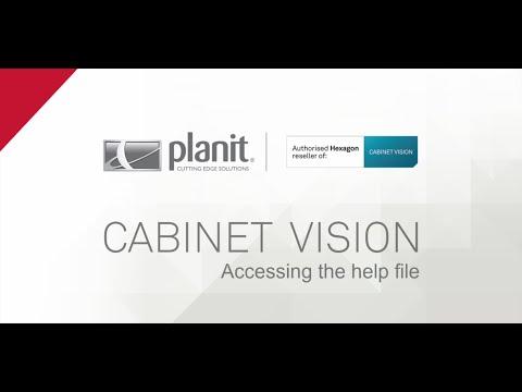 Using CABINET VISON Help File