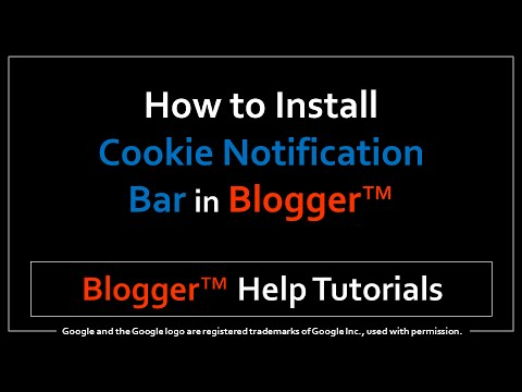 How to Install a Cookie Notification Bar in Blogger
