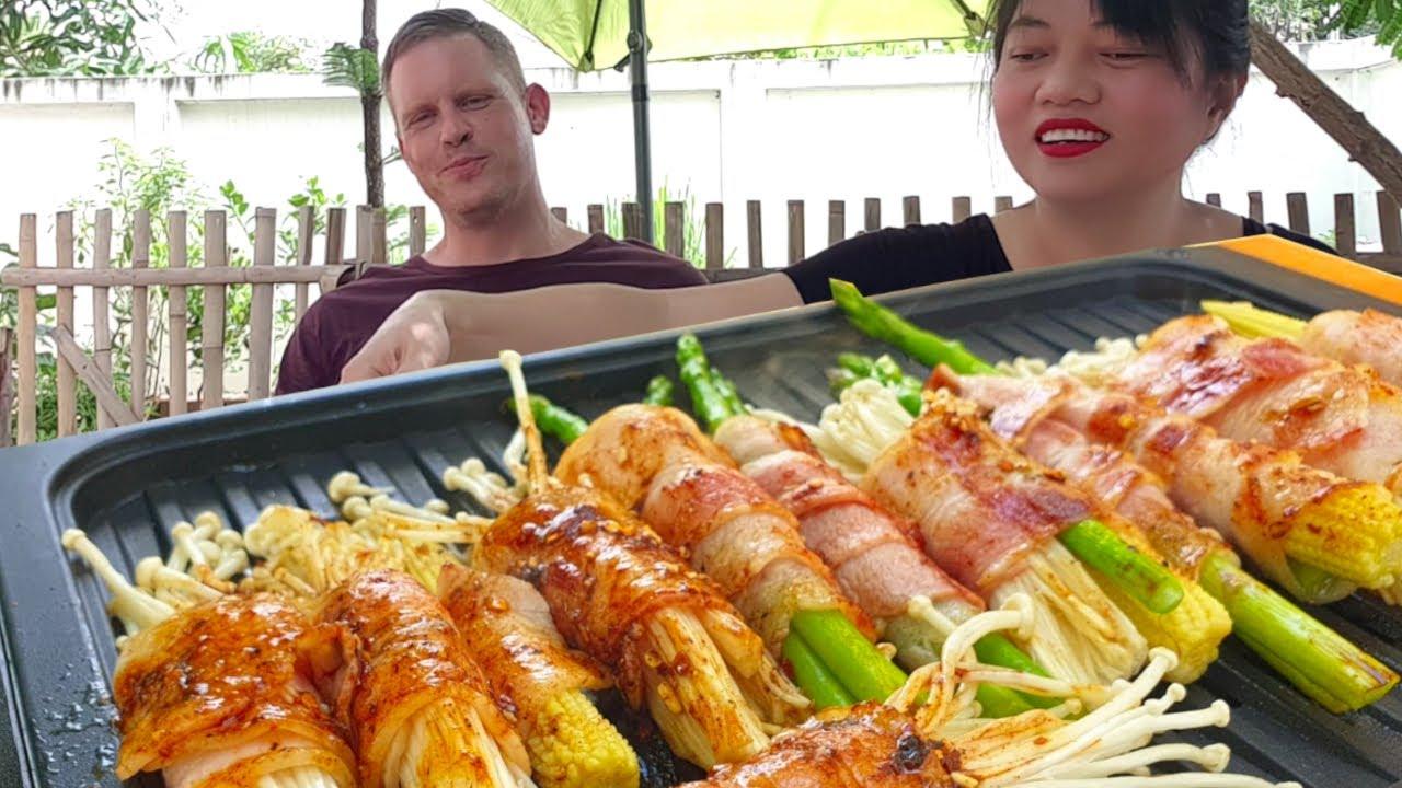 BBQ น้ำจิ้มแจ่ว พันเบคอน  ‼️ อร่อยมาก เหมาะกับงานปาร์ตี้ งานสังสรรค์ วัตถุดิบหาง่าย ทำก็ง่ายด้วยค่ะ