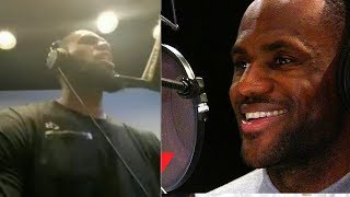 Is LeBron James Recording An Album in The Studio?