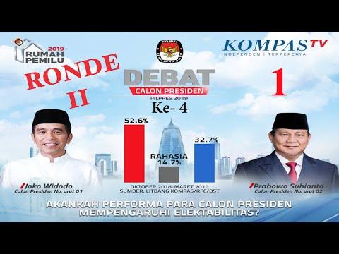 LIVE Debat Capres Pilpres 2019 - Jokowi & Prabowo - Bagian 1