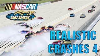 My NR2003 Gameplay Crash Clips #4 [NASCAR Racing 2003 Season Crash Compilation]