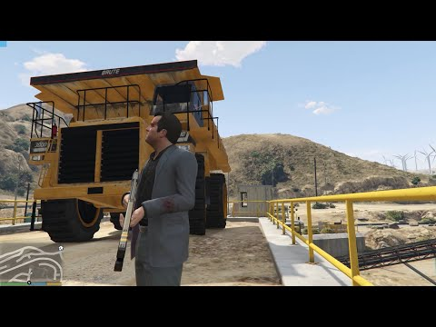GTA 5 Biggest Mining Dump Truck Gameplay 2020 - Underground Studio