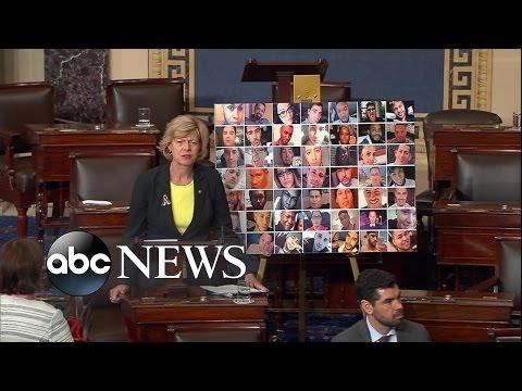 Senate Democrats Lead Filibuster for Gun Legislation