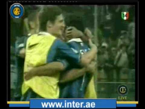 2006 Supercoppa - Inter vs Roma 4-3 Figo (Commento di Scarpini e Cauet)