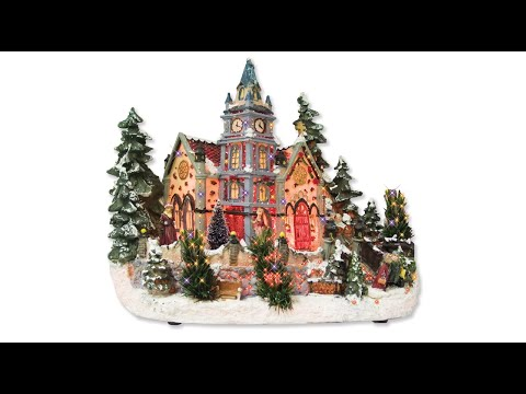 Fibre Optic - Village With Characters - The Christmas Warehouse ...