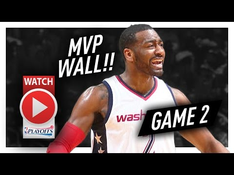 John Wall Full Game 2 Highlights vs Hawks 2017 Playoffs - 32 Pts, 9 Ast, MVP MODE!