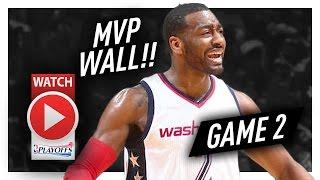 John Wall Full Game 2 Highlights vs Hawks 2017 Playoffs - 32 Pts, 9 Ast, MVP MODE!