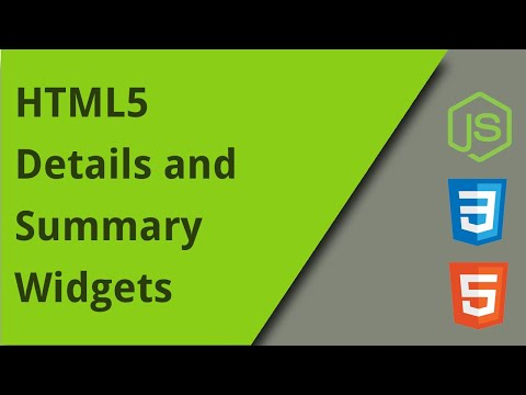 HTML5 Details And Summary Elements