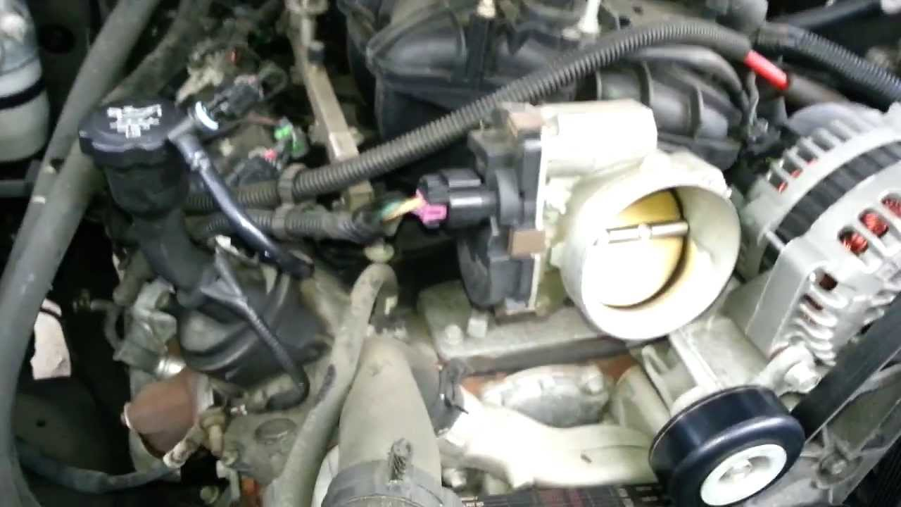 How to remove and replace LS Throttle Body | Vortec 48 5