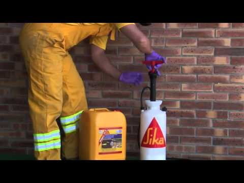 Sikagard 703 W Invisible Water Repellent Impregnation For Facades And Walls Youtube