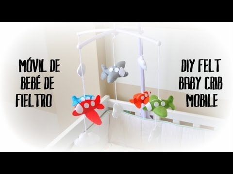 m vil de fieltro para beb diy baby felt crib mobile youtube. Black Bedroom Furniture Sets. Home Design Ideas
