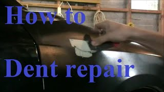 How to Fix a Small Dent Start to Finnish