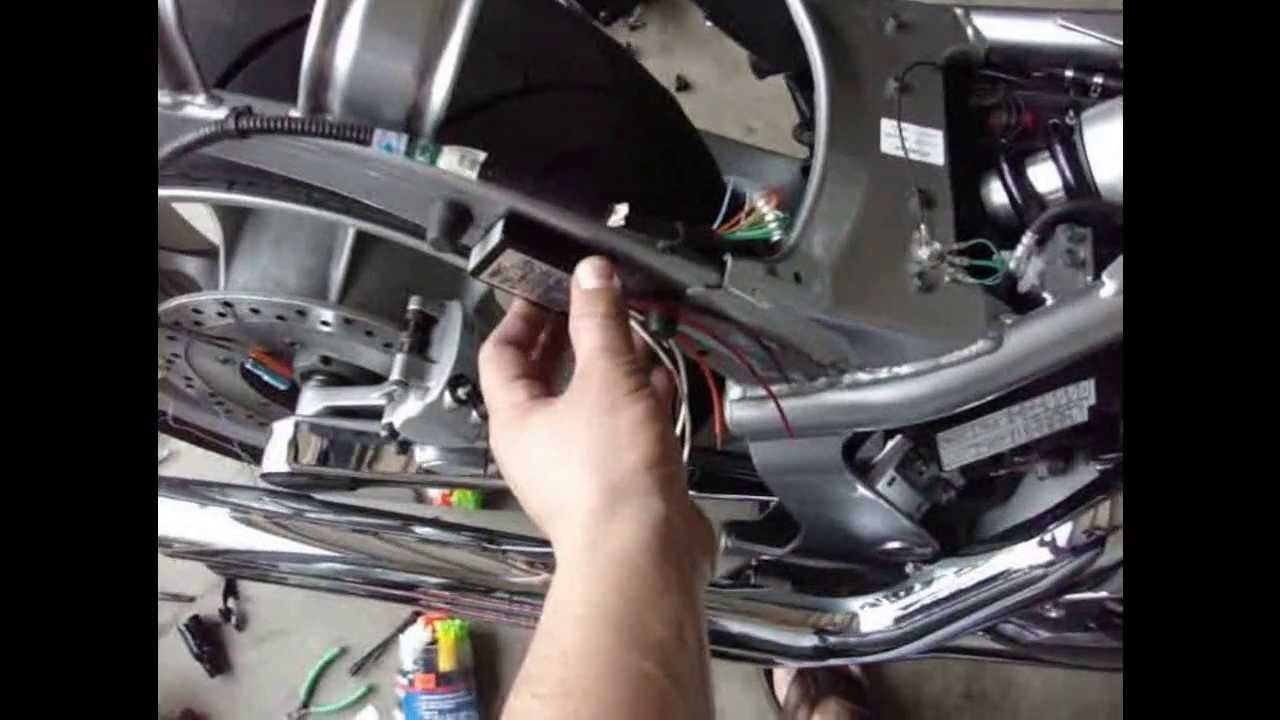 diy rear led install on 2010 honda fury [ 1280 x 720 Pixel ]