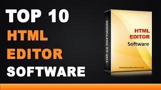 Best HTML Editor Software - Top 10 List