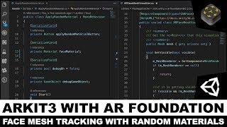 Unity3d AR Vakfı ile 3 ARKit ve Gerçek zamanlı Yüz w/ Rasgele Malzemeleri Üretmek için Takip Yüz