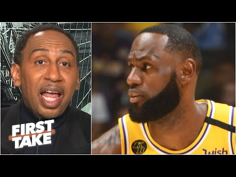 Stephen A. reacts to LeBron's comments that 'nobody should be canceling' the NBA season | First Take