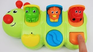 Learn colors for babies with Fisher-price Caterpillar Pop-up toy