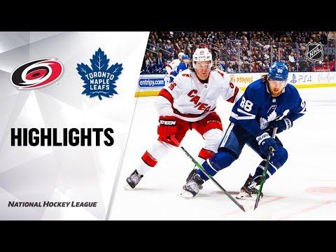 NHL Highlights | Hurricanes @ Maple Leafs
