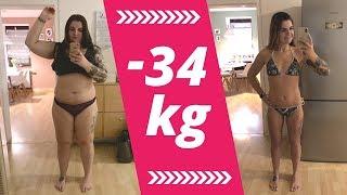 Abnehmen Motivation: Sophia hat 34kg abgenommen, Vorher & Nachher