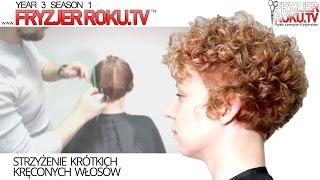 Strzyżenie krótkich kręconych włosów ✔ Curly hair layered haircut. FryzjerRokuTV