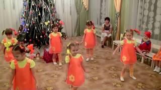 """Новогодний утренник в детском саду Веселый танец """"Пеппи"""""""