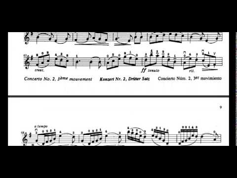 Concerto No. 2, 3rd Movement (F. Seitz) violin sheet music