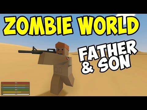 UNTURNED - Father & Son in Zombie World! - Part 1 (Unturned Multiplayer Co-op)