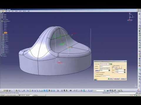 CATIA V5 - GSD Tutorial: Modeling an associative knob