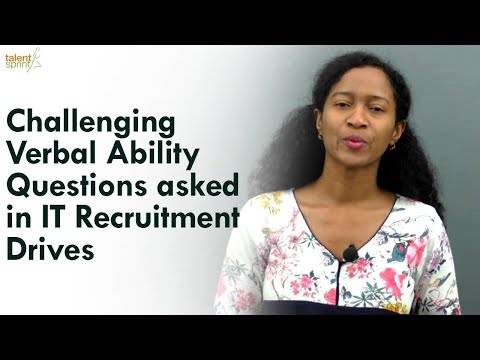 Challenging Verbal Ability questions asked in IT recruitment drives  TalentSprint
