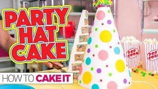 how to make a party hat cake
