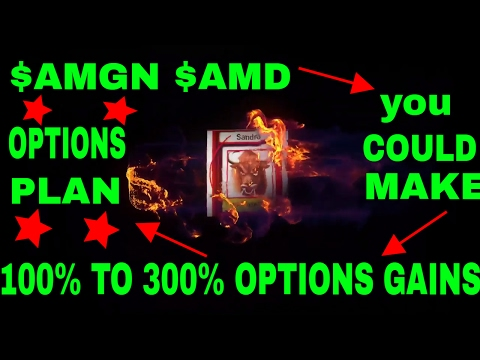 How to buy options for 100% to 300% gains  $AGMN $AMD  feb 01