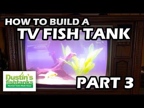 How To Build an Aquarium TV-   Fish Tank TV Part 3