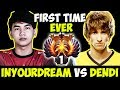 Inyourdream Vs Dendi First Time Ever !! - Sea Star Vs Legend | Battle In Sea Dota 2