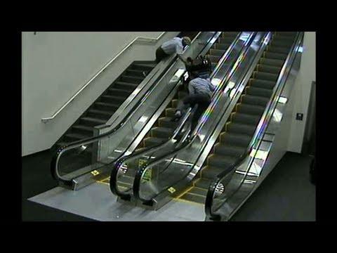Woman in wheelchair tumbles down escalator at Portland airport