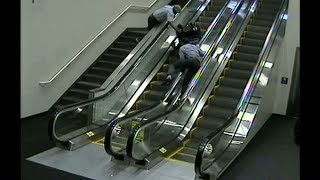 Woman in wheelchair tumbles down escalator at Portland airport