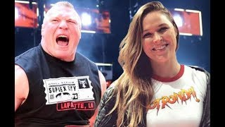 Brock Lesnar Next MATCH Revealed WWE RONDA ROUSEY Cyborg WRESTLEMANIA MATCH