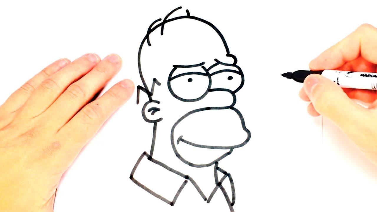 Como dibujar a homero simpson paso a paso dibujo facil for Comedor facil de dibujar