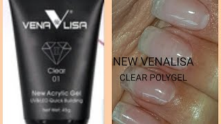 NEW VENALISA POLYGEL ACRYLIC GEL ON NATURAL NAILS