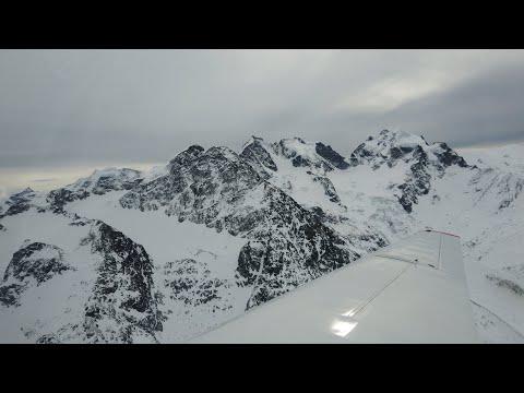 Winter Mountain Flying in Switzerland (4K)   Fournier RF 5