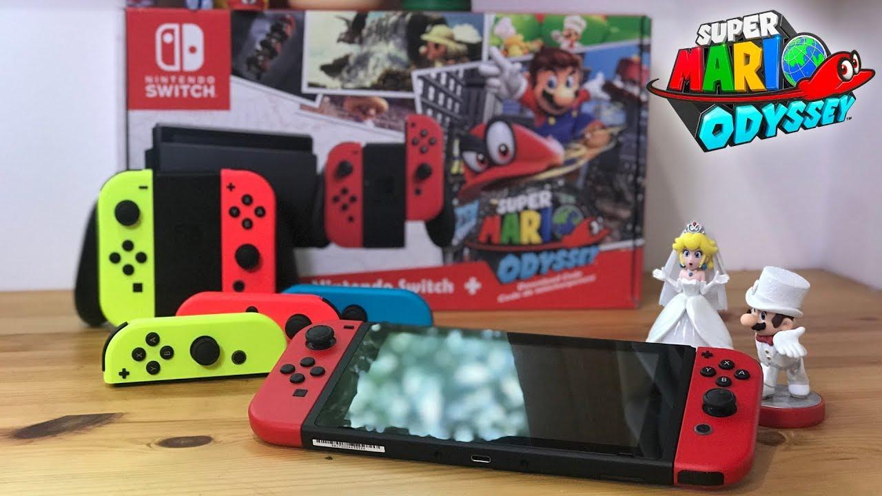 Red Joy Con Comparison Super Mario Odyssey Youtube Nintendo Switch Grey Bundle 2game 2amiibo