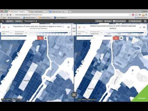Exploring Social Explorer: Interactive Maps and Data Visualization for the Classroom (Demo)