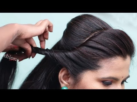 Beautiful hairstyles for wedding function | Quick & Easy Hairstyles for long hair | Hair style girl