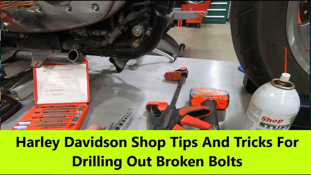 Harley Davidson Shop Tips And Tricks For Drilling Out Broken Bolts