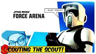 Star Wars: Force Arena - Scouting the Scout! Gameplay of the NEW CARD | Tarkin Deck