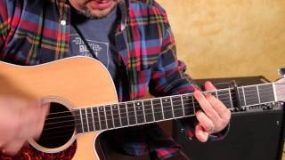 "Please watch: ""Beginner Acoustic guitar lesson ""Tom Petty I won't b..."