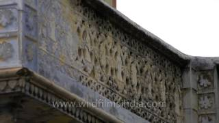 Intricate designs on the village wall: Sonkhaliya
