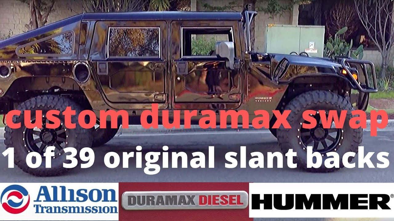 4 Inch Lift Kit >> 2000 hummer h1 slant back with a duramax conversion - YouTube
